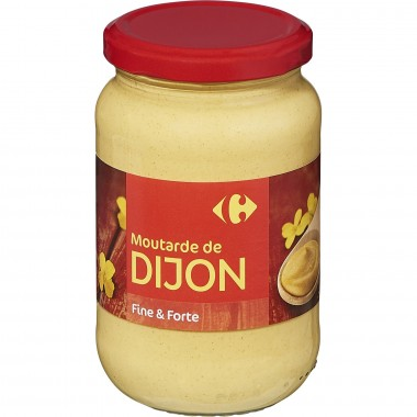 Bocal de moutarde de Dijon Carrefour 370G