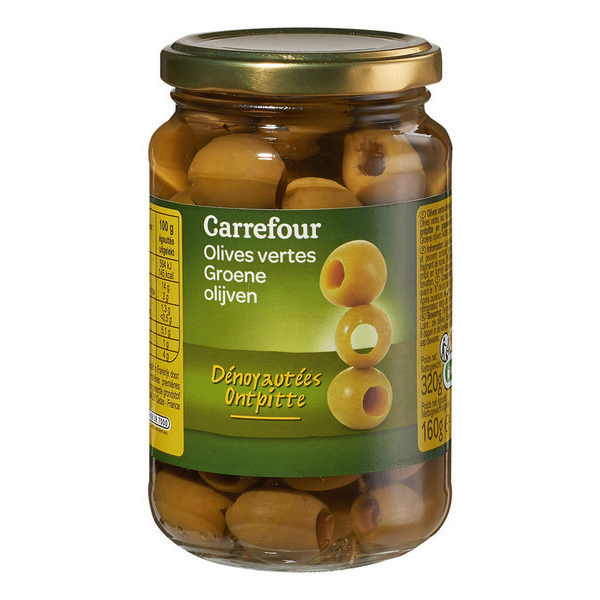 Olives Carrefour vertes 320G