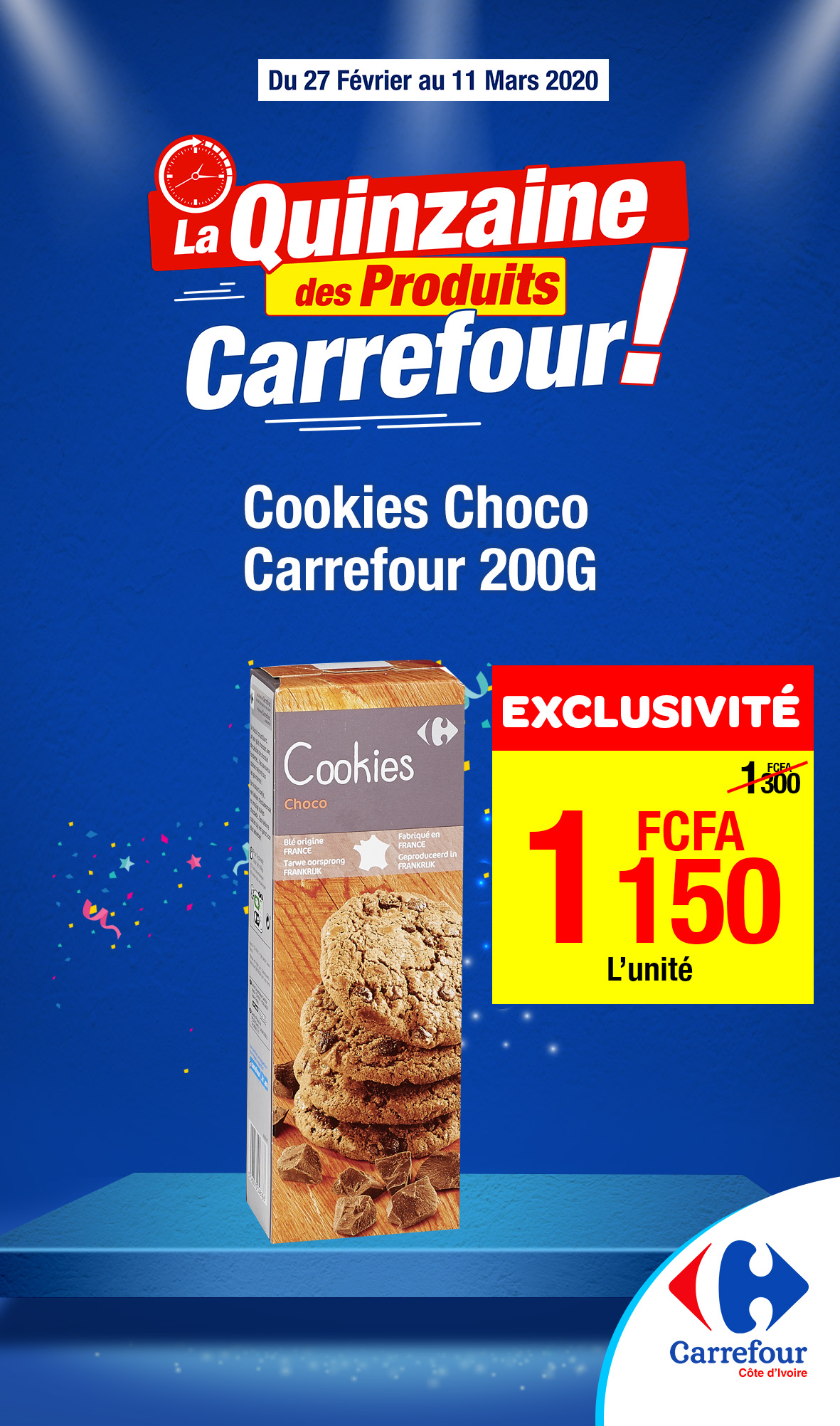 Cookies Choco Carrefour